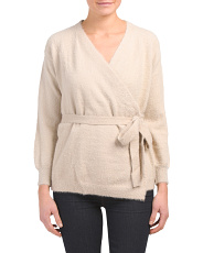 Belted Wrap Around Sweater
