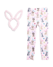 Girls Kittens And Dogs Leggings With Headband
