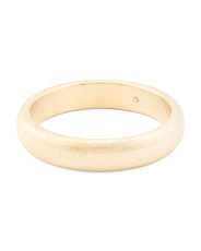 Made In Italy 14k Gold Textured Bangle Bracelet