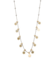 Made In Italy Sterling Silver Dangling Star Necklace