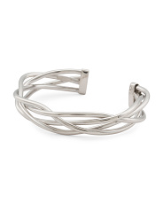 Made In Italy Sterling Silver Braided Cuff Bracelet