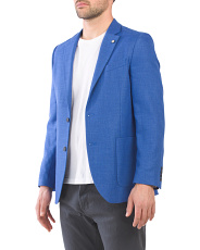 Stretch Linen Blend Sport Coat