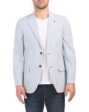 Seersucker Stretch Sport Coat