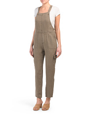 Linen Overalls With Cargo Pockets