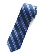 Bedford Striped Silk Slim Tie