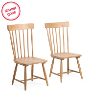 Set Of 2 Spindle Back Dining Chairs