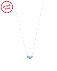 Sterling Silver Graduated Austrian Crystal Fireball Necklace
