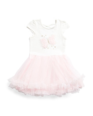 Little Girls Butterfly Cross Back Tutu Dress