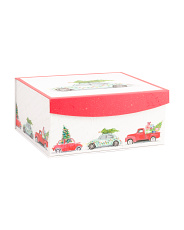 Large Christmas Cars Flip Top Storage Box