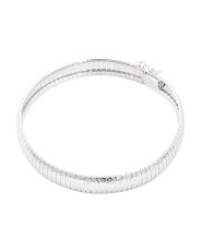 Made In Italy Sterling Silver Diamond Cut Bracelet