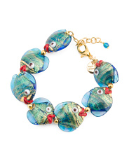 Made In Italy Murano Glass Fish Bracelet