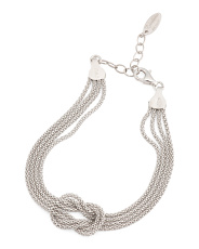 Made In Italy Sterling Silver Knotted Bracelet