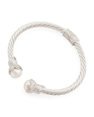 Made In Italy Sterling Silver Fresh Water Pearl Bracelet