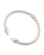Made In Italy Sterling Silver Twisted Shank Point Bracelet