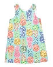 Little & Big Girls Pineapple Shift Dress