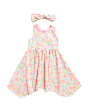 Little & Big Girls Tropical Floral Dress