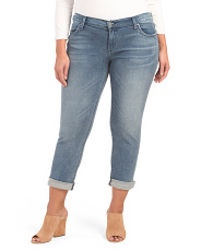 Made In Usa Plus Slim Boyfriend Jeans