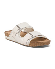 Buckle Comfort Footbed Slide Sandals