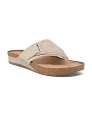 Wide Comfort Thong Footbed Sandals