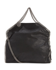 Made In Italy Falabella Deer Fold Over Faux Leather Tote