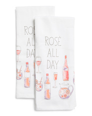 2pk Rose All Day Kitchen Towels