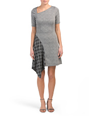Made In Usa Fit & Flare Plaid Dress
