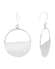 Made In Mexico Sterling Silver Half Circle Earrings