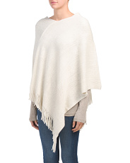 Lurex Poncho With Fringe