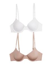 2pk Demi Coverage And Lightly Lined Bras