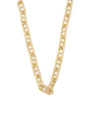 14k Gold Plated Sterling Silver Cz Link Necklace