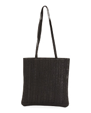 Front Detail Leather Tote