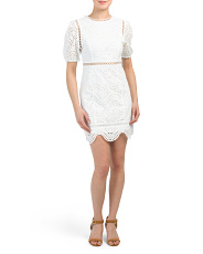 Tie Back Eyelet Dress
