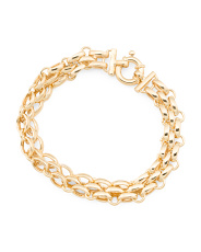 Made In Italy 14k Gold Panther Link Bracelet