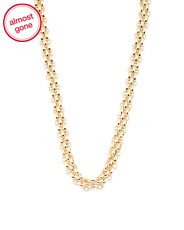 Made In Italy 14k Gold Panther Link Necklace