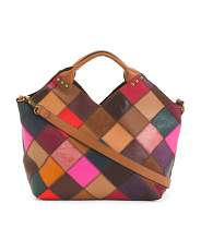 Leather Patchwork Shopper