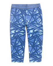 Girls Printed Capris