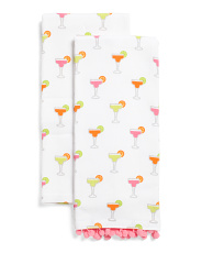 2pk Tiny Margaritas Kitchen Towels