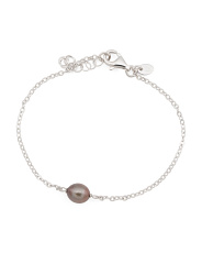 Made In Italy Sterling Silver Pearl Bracelet
