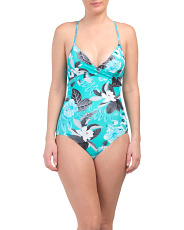 Bahama Wrap Front One-piece Swimsuit