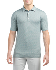 Short Sleeve Heathered Stripe Golf Shirt