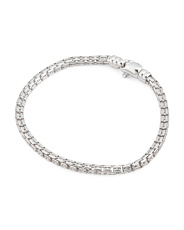 Made In Italy Sterling Silver Box Chain Bracelet