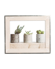 17x14 Galvanized Washed Wood Wall Frame