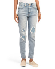 Nico Destructed High Rise Slim Jeans