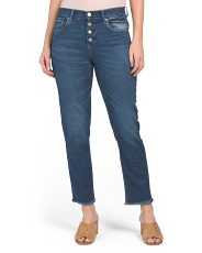 Rigid High Rise Crop Straight Jeans
