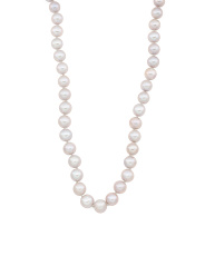 14k Gold Grey Pearl Necklace