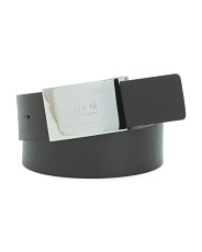 Made In Italy Leather Plated Belt