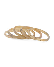 Made In India Set Of 5 Natural Horn And Brass Bracelets