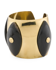 Made In India Natural Horn And Brass Cuff Bracelet