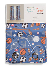 Kids 38x84 Set Of 2 Varsity Sports Curtains