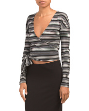 Always With Me Striped Wrap Tee